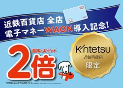 電子マネーWAONのお支払いでポイント2倍[4月21日(水)→5月18日(火)]